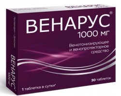 Венарус, табл. п/о пленочной 100 мг+900 мг №30
